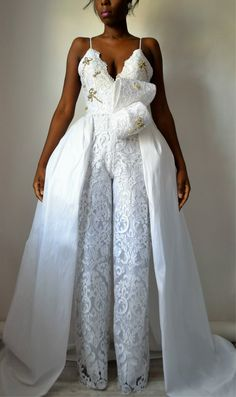 Hey, I found this really awesome Etsy listing at https://www.etsy.com/listing/505317843/lilly-lace-wedding-jumpsuit