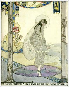 Illustration by Jessie M. King (1875–1949) from The House of Pomegranates by Oscar Wilde, 1914