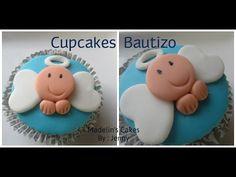 Cupcakes Para Bautizo o Baby Shower Muy Fáciles De Hacer - Madelin's Cakes - YouTube