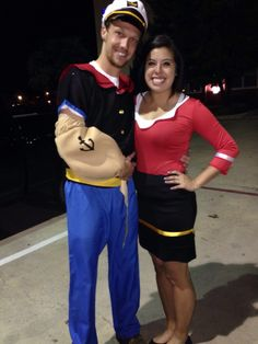halloween couple costume popeye and olive oil