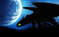 Night Fury by moonlight.