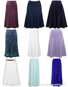 Long Skirts for Pear Shape