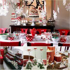 Idéias para montar sua mesa de Natal | Casamenteiras