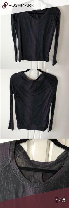 Lululemon long sleeve tee size 6 Lululemon long sleeve tee size 6 soft EUC lululemon athletica Tops Tees - Long Sleeve