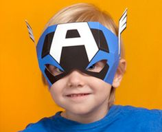 Download Captain America Mask Template
