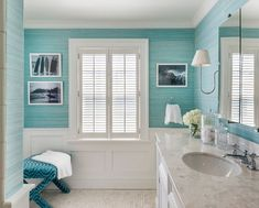 Teal bathroom ideas turquoise bathroom ideas cottage bathroom with turquoise and wainscoting grey turquoise bathroom ideas turquoise bathroom ideas light Turquoise Bathroom Decor, Teal Bathroom Accessories, Bathroom Wall Decor, Bathroom Styling, Bathroom Interior Design, Bathroom Ideas, Bathroom Designs, Wainscoting Bathroom, Wainscoting Height