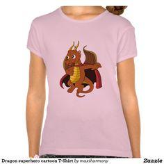 Dragon superhero cartoon T-Shirt