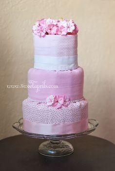 Fondant Style Diaper Cake Tutorial DIY