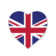 Britain UK Flag Brexit heart shaped x20 stickers - sticker stickers custom unique cool diy