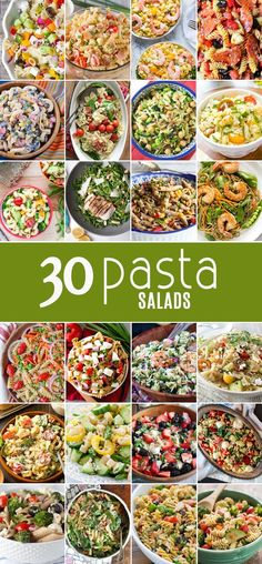30 PASTA SALADS for every bbq and get together! Find the perfect easy recipe for every occasion! Full of flavor and SO SIMPLE! Nothing better than the best pasta salad recipe!