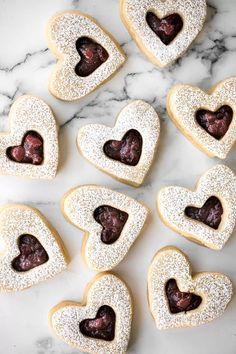 Raspberry and White Chocolate Shortbread Cookies | Ahead of Thyme Banana Bread Cookies, Chocolate Shortbread Cookies, Banana Chocolate Chip Muffins, Chocolate Loaf Cake, Molten Chocolate, White Chocolate, Valentines Day Desserts, Valentine Cookies, Valentines Baking