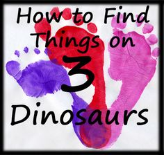 How to Find Things on 3 Dinosaurs - a Break down of some of the pages