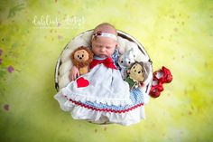 Dorothy wizard of oz inspired newborn session photography prop headband by birdie baby boutique / image by dahlias and daisies designs