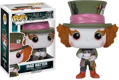 """Alice in Wonderland - Mad Hatter Pop! Vinyl Figure """"You used to be much more...""""muchier."""" You've lost your muchness."""" Tim Burton brought to life Lewis Carroll's classic novel, Alice in Wonderland, in live action in 2010 and now they are coming to the Pop Vinyl universe.Nineteen-year-old Alice returns to the magical world from her childhood adventure, where she reunites with her old friends and learns of her true destiny: to end the Red Queen's reign of terror. This Pop Viny..."""