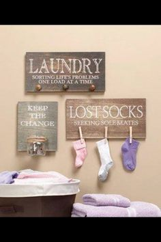 Cute Laundry room idea! Will definitely be doing this once I have a laundry room, and not just a closet!