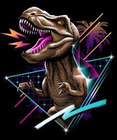 Star Wars Art Discover Rad T-Rex Poster by vincenttrinidad Jurassic World Fallen Kingdom, Jurassic Park World, Jurassic Park Tattoo, Retro Kunst, Retro Art, Ps Wallpaper, Hawaiian Party Decorations, Dinosaur Art, Prehistoric Creatures