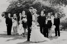 Bridal party (they are in all black and white - it's not just a black and white picture)