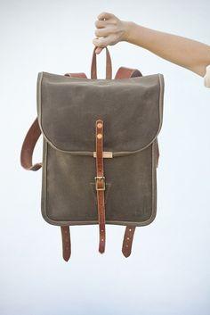 Handmade canvas backpack!