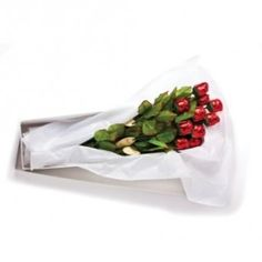 Chocolate Roses 19in Semi-Solid Premium Milk Gift Boxed Pkg/12 $ 48.01 The Perfect Gift for that Special Someone! Great for Valentines Day Packaged in Large White Floral Gift Box