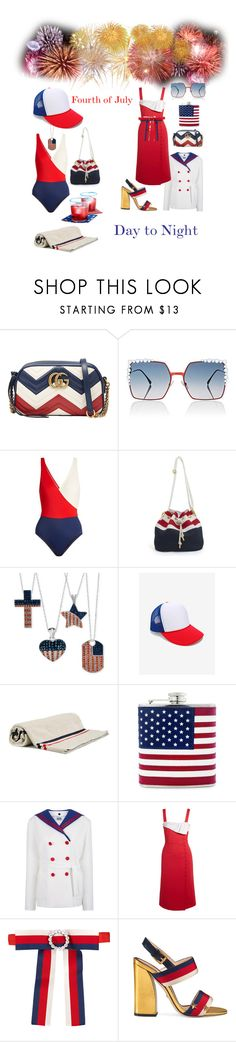 """Fourth of July"" by sarahcanavan ❤ liked on Polyvore featuring Gucci, Fendi, Solid & Striped, Moncler, Arthur Arbesser and Gabriela Hearst"