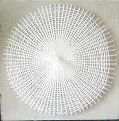 Day 73 woven yarn circle white 365 enso