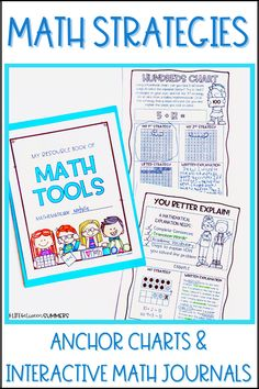 Are you looking for a fun and engaging way to teach your students the multiple different addition and subtraction strategies? With Common Core State Standards, we all know there are multiple strategies like tens frames and number lines to add and subtract. These resource books for math tools are just like an interactive math journal. Use these and the math strategies anchor charts found in this post to help students during math workshop!