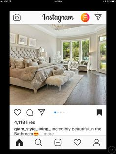 Instagram 4, Bedroom, Furniture, Beautiful, Home Decor, Style, Bedrooms, Home Furnishings, Home Interior Design