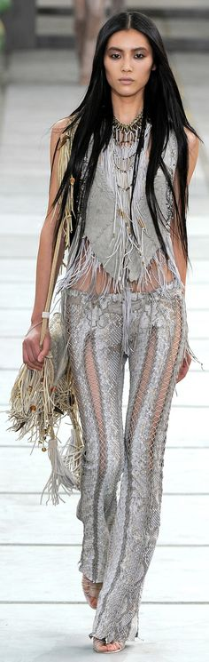 ✪ Native American Influence in Cavalli's SS 2011 collection ✪ www.vogue.co.uk/...