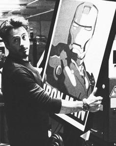 Robert Downey Jr. & Iron Man Print