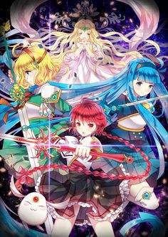 magic knight rayearth, fuu hououji, mokona, princess emeraude, hikaru shidou, umi ryuuzaki