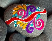Teardrops from the Sea / Magnets / Painted Stones/ Sandi Pike Foundas / Cape Cod. $34.00, via Etsy.