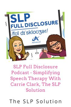 How to Simplify Your Speech Therapy, With Carrie Clark of The SLP Solution. In our recent appearance on the SLP Full Disclosure Podcast, Carrie shares her best tips for streamlining in-person and speech therapy so speech language professionals can take back more of their free time while still getting great results for their clients. Speech Language Therapy, Speech Pathology, Speech And Language, Speech Therapy, Occupational Therapy, Physical Therapy, Dating Meaning, Employment Opportunities, New Career