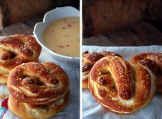 Soft Pretzels with Spicy Cheese Sauce