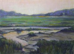 """Daily Paintworks - """"Untitled marsh."""" - Original Fine Art for Sale - © Tatiana Myers"""
