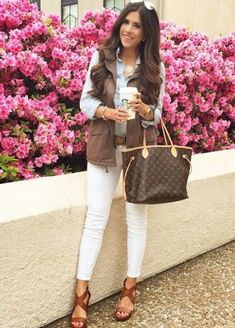 brown puffy vest, How to dress chic and warm in winter http://www.justtrendygirls.com/how-to-dress-chic-and-warm-in-winter/