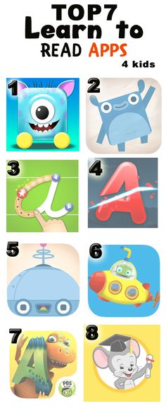 learn to read top 7 apps for kids.  this is our list.  1. Mario´s Alphabet (is really really good and really engaging for kids). https://itunes.apple.com/us/app/mario-s-alphabet/id1032355409?ls=1&mt=8 2. Endless Alphabet 3. Letter school 4. ABC ninja 5. Endless worldplau 6. submarine tiggly 7. Dinos a to z