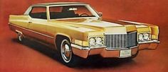 1970 Cadillac Coupe deVille in Regency Gold Firemist