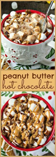 yummy, comforting hot chocolate, with a special new addition: creamy peanut butter! Ready in less than 10 minutes.A yummy, comforting hot chocolate, with a special new addition: creamy peanut butter! Ready in less than 10 minutes. Hot Chocolate Bars, Hot Chocolate Recipes, Chocolate Peanut Butter, Chocolate Milkshake, White Chocolate, Cocoa Recipes, Peanut Recipes, Coffee Recipes, Yummy Drinks