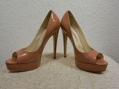 Brian-Atwood-Pump-Platform-Patent-Leather-Salmon-Size-37-5-NWT