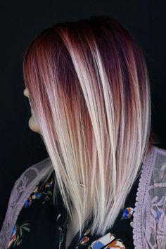 💥 M A G M A melt 💥 Creative hair color b Vivid Hair Color, Gorgeous Hair Color, Cool Hair Color, Mom Hairstyles, Creative Hairstyles, Balayage Hair, Ombre Hair, Haircolor, Hair Melt