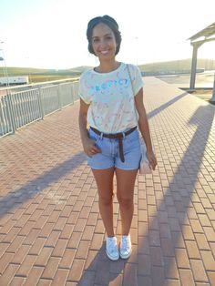 http://unachicasual.blogspot.com/2014/07/have-sweet-day.html  fashionblogger, girl, look, ootd, outfit, inspiration, crop top, short, lefties, levi´s, deportivas, sneakers, primark, pastel, color, girl