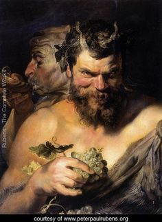 """Peter Paul Rubens """"Two Satyrs""""...   Rubens painted this 400 years ago and the intent behind the satyr's look is timeless!"""