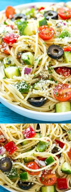 This amazing Spaghetti Salad from Dinner at the Zoo is the most delicious pasta salad filled with your favorite fresh vegetables that get tossed in Parmesan cheese and a Homemade Zesty Italian dressing.