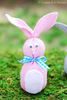 Sock Bunny (Easter Crafts for Kids)