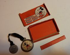 Mickey Mouse Pocket Watch Ingersoll 1930's non running #Ingersoll
