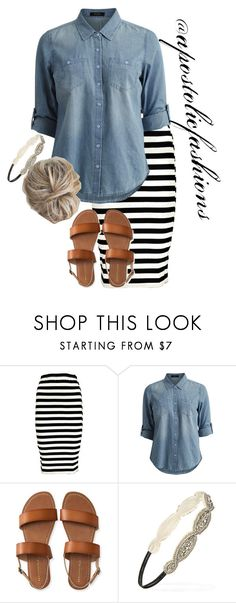 """""""Apostolic Fashions #1765"""" by apostolicfashions ❤ liked on Polyvore featuring Boohoo, Vila Milano, Aéropostale and Forever 21"""