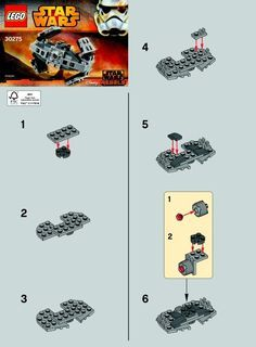 LEGO 30275 TIE Advanced Prototype instructions displayed page by page to help you build this amazing LEGO Star Wars set Legos, Star Wars Origami, Lego Star Wars Mini, Lego Super Mario, Lego Creative, Lego Kits, Micro Lego, Lego Ship, Lego For Kids