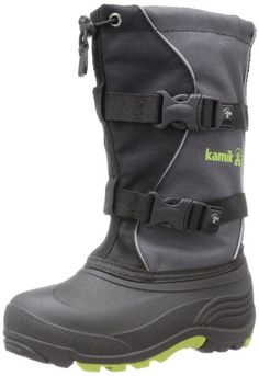Keen Basin WP Snow Boot (Toddler/Little Kid/Big Kid),Black/Yellow ...