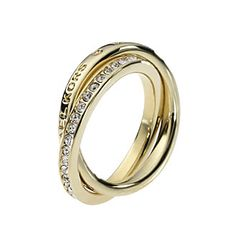 MICHAEL Michael Kors® Gold Tone Intertwine Pave Ring @ Bon-Ton