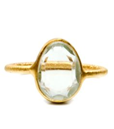 Gem Slice Ring in Green Amethyst. Beauty.